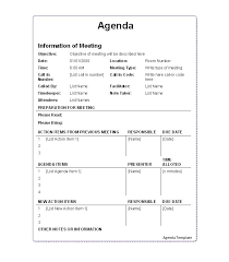 How To Write An Agenda Of A Meeting 46 Effective Meeting Agenda Templates Template Lab