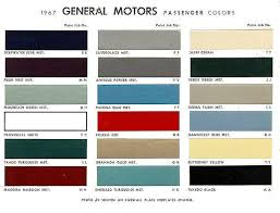 1967 canadian color chart