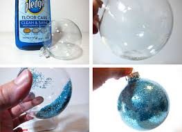 how to glitter the inside of a ornament