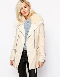 cream leather biker jacket style