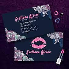 Lipsense Dark Floral Business Card Cutergb Printable Digital Templates