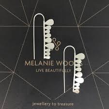 MELANIE WOODS - Fern Strip Hook Earrings - Silver – Rodwell and Astor