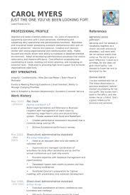 File Clerk Resume samples