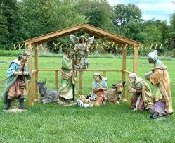 wooden outdoor nativity set table and benches wooden projects to embellish your backyard for summer call