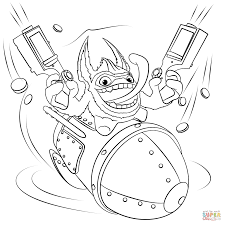 Small Picture Skylanders Trigger Happy coloring page Free Printable Coloring Pages