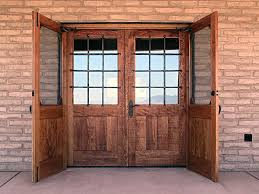 image of rustic double entry doors with glass