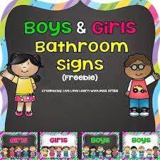 preschool bathroom signs. FREE Boys And Girls Bathroom Signs Preschool P