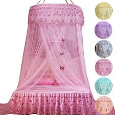 Round Princess Bed Mosquito Net Pink Canopy For Adults Kids Room Hanging Dome Tent Anti-Mosquito Lace Curtain V3