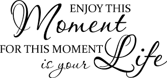 Quotes About Enjoying The Moment Interesting Enjoy This Moment For This Moment Life Is Your