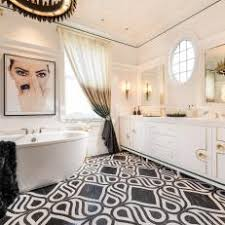 art deco bathroom. Master Bathroom Inspired By 1960s Vogue Cover Offers Ultimate In Feminine Appeal Art Deco