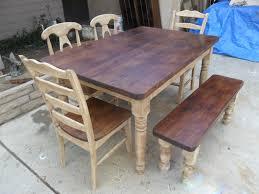 brown wooden dining bench backrest