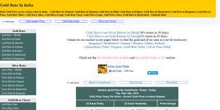 India Gold Rate Gold Gold Rate Gold Rates Gold Price
