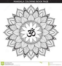 мандала татуировки хны вектора символ Om декоративный иллюстрация