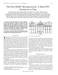 PDF) The first MAJC microprocessor: a dual CPU system-on-a-chip   Marc  Tremblay and A. Liebermensch - Academia.edu