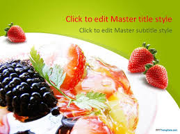 Free Food Powerpoint Templates Free Dessert Food Ppt Template