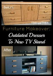 old furniture makeovers. furniture makeover from old outdated dresser to new stunning tv stand chalk paint painted makeovers