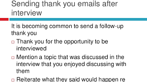 Sample Thank You Interview Letter Thank You Email After. Job ...