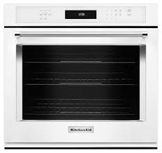 kitchenaid 30 built in single electric convection wall oven white