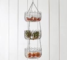 Farmhouse Wire Hanging Fruit Basket