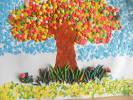 Поделка или аппликация на тему красками осени