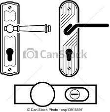 door handle drawing door clipart black and white clipart panda free