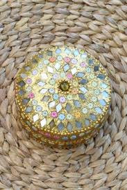 Decorative Ring Boxes Jewellery Box Decorative ring box golden glitter set of 60 13