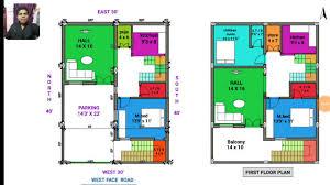30 40 west face house plan map naksha walk through in 3d