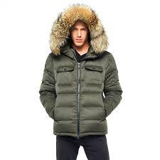 winter jacket furhood realfur armystyle armygreen downjacket