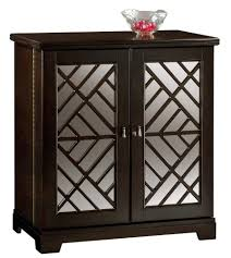 Wine Bar Storage Cabinet Howard Miller Black Console Wine And Bar Cabinet With Mirrored