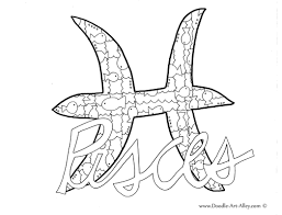 Print zodiac signs and symbols. Zodiac Coloring Pages Doodle Art Alley