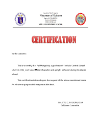 Best Of Certificate Of Good Moral Character Livoniatowing Best