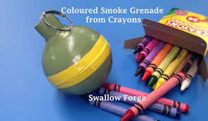 Crayon Rings How To Make Coloured Smoke From Wax Crayons Smoke Bomb Grenade