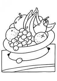 Small Picture Coloring Page Fruit Basket Best Coloring Page 2017