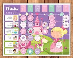 Reward Chart Princess Reward Chart