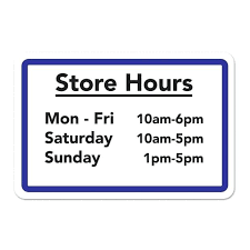 printable store hours sign business hour signs printable hours sign template quintessence