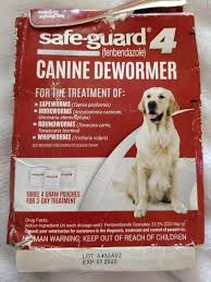 Vetguard Plus Dosage Chart New Sealed Safe Guard 4 Canine Dewormer 40lbs Pouch 4 Treatments Exp 7 20 Ebay