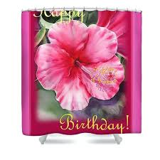 hibiscus shower curtain hibiscus shower curtain featuring the painting happy birthday hibiscus by hibiscus print shower hibiscus shower curtain