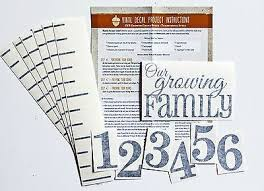 Growth Chart Ruler Decal Diy Vinyl Growth Chart Ruler Decal Kit Large Style Our