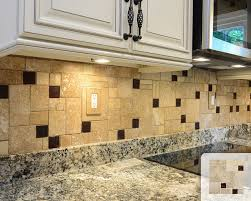 kitchen brown glass backsplash. Travertine Honed Tile Brown Glass Mosaic Kitchen Backsplash Traditional- A
