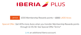 Avios Chart 2018 40 Bonus For Transferring American Express Membership