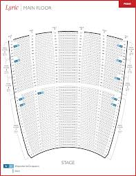 Lyric Opera Seating Chart Lyric Opera Seating Charts