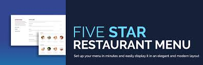 Fancy Restaurant Menu Five Star Restaurant Menu Wordpress Plugin Wordpress Org