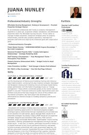 Property Management Resume samples