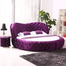 Round Beds Luxury Home Furniture Round Bed With Crystals And Led Circle Bed