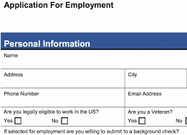 Employment Job Application Form Job Application Form Example Writings And Essays Corner