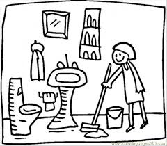 bathrooms drawing coloring coloring pages