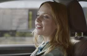 Redhead actress in the commericial