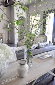 Natural Spring Decor with Fresh Cut Branches Living Room