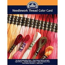 Dmc Embroidery Floss Chart Dmc Colorcrd Needlework Threads 12 Page Printed Color Card