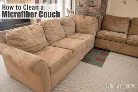 here s how to clean a microfiber couch without fancy cleaning supplies plus